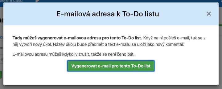 Vytvořte si e-mailovou adresu k To-Do listu a posílejte si úkoly / inforamce / zadání do Freela přímo z e-mailového klienta.