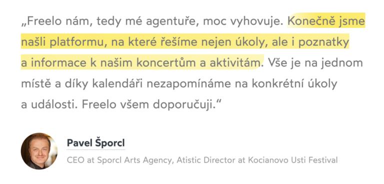 Pavel Šporcl a jeho reference na Freelo.