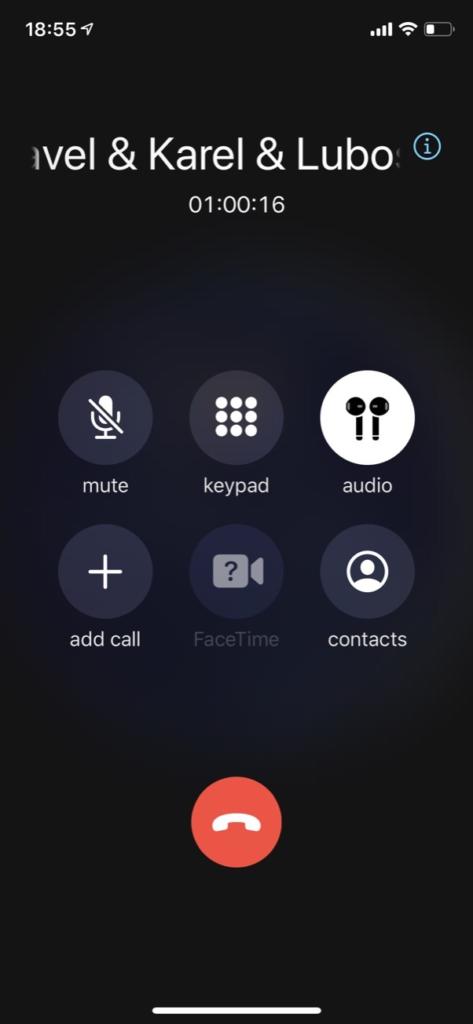 Komunikace přes konferenční hovor při řešení problému zabrala cca 1 hodinu.